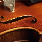 F-Loch einer Geige von Jean Severin, Weimar