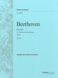 Ludwig van Beethoven, Violinkonzert, Ausgabe für Geige und Klavier