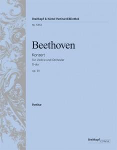 Ludwig van Beethoven, Violinkonzert - Partitur