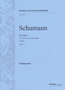 Schumann Violinkonzert Studienpartitur Cover