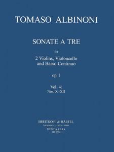 Tomaso Albinoni Triosonaten Vol4 Cover