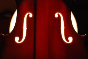 Decke einer Geige im Gegenlicht (Bild: Jean Severin)