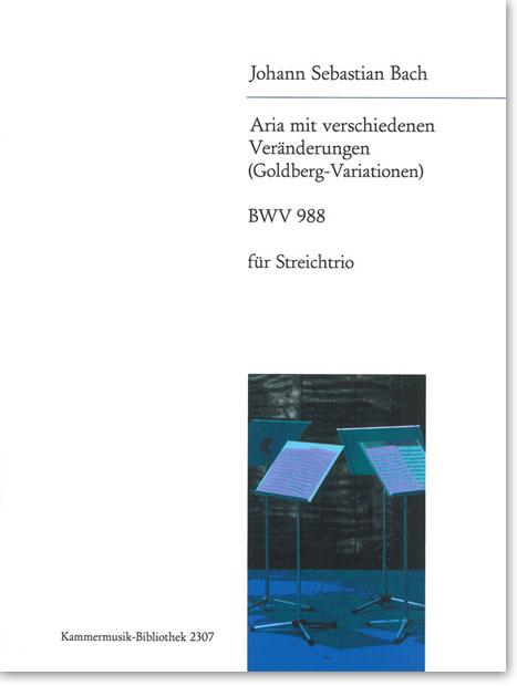 Cover der Ausgabe: Johann Sebastian Bach, Goldberg-Variationen, arr. von Annette Bartholdy - Breitkopf & Härtel